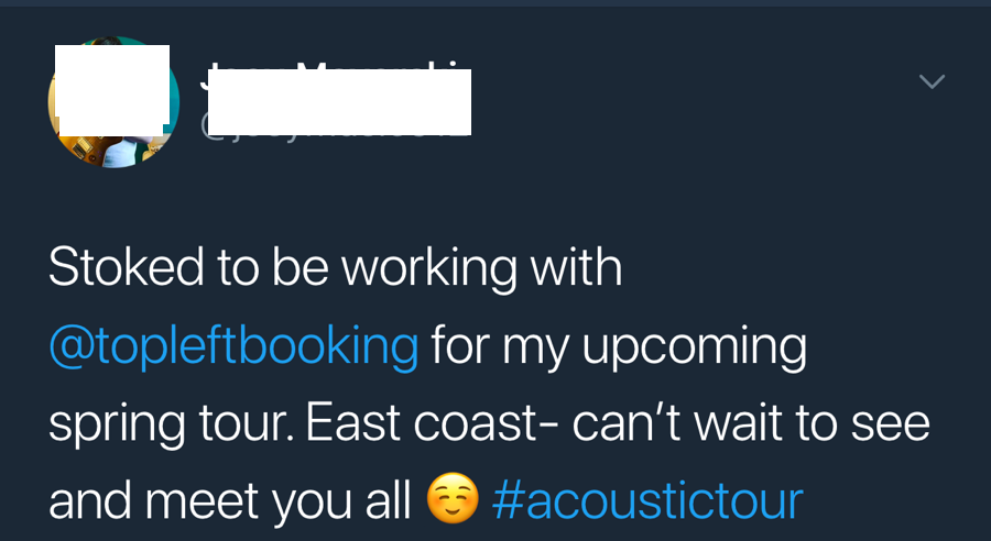 music booking contacts